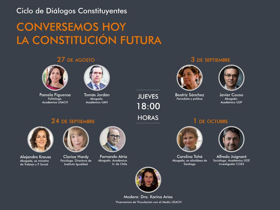 """Diálogos Constituyentes """"Conversemos hoy la Constitución futura"""""""