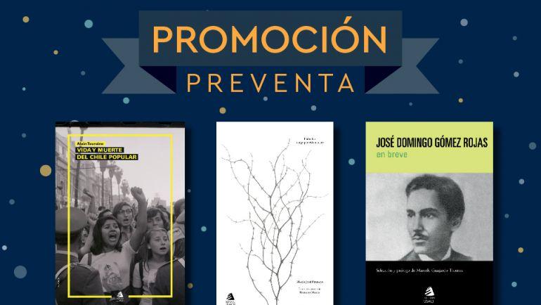 Nuevas publicaciones a precio especial de PREVENTA